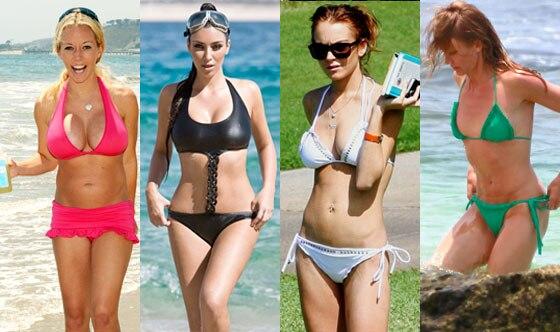 Kendra Wilkinson, Kim Kardashian, Lindsay Lohan, Cameron Diaz