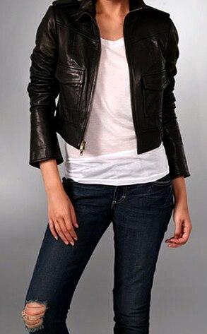 Diane von Furstenberg's New Seagull Leather Jacket