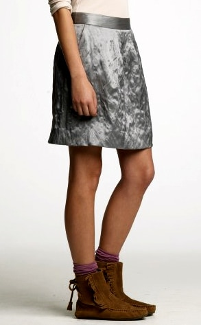 J. Crew's Hammered-Metal Skirt