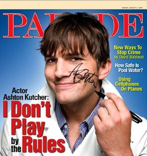 Ashton Kutcher, Parade Magazine