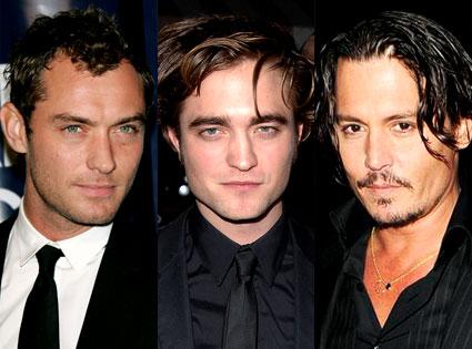 Jude Law, Robert Pattinson, Johnny Depp