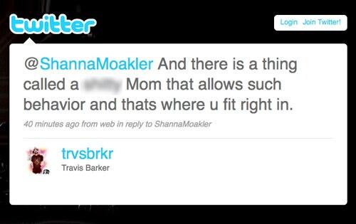 Travis Barker, Shanna Moakler, Twitter