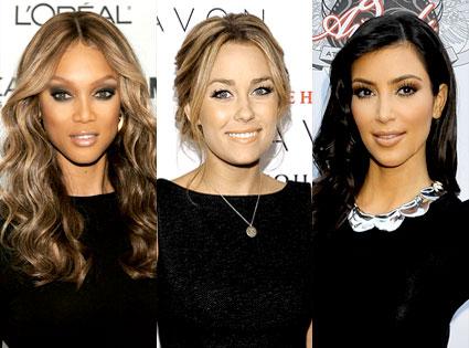 Tyra Banks, Lauren Conrad, Kim Kardashian