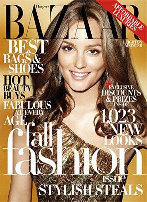 Harper's Bazaar Cover, Leighton Meester