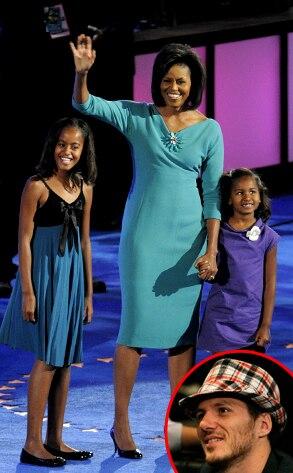 Malia Obama, Sasha Obama, Michelle Obama, Spike Mendelsohn