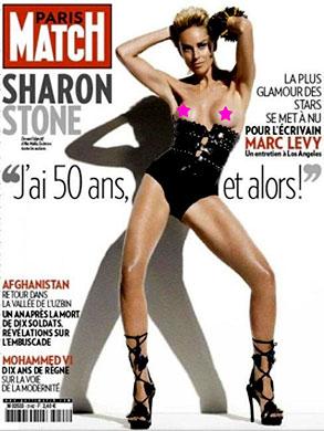 Sharon Stone, Paris Match Magazine Cover