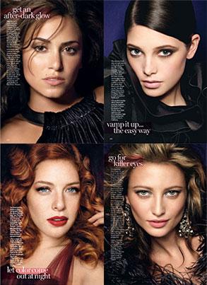 Nikki Reed, Ashley Greene, Rachelle Lefevre, Noot Seear, Glamour Magazine, Inside