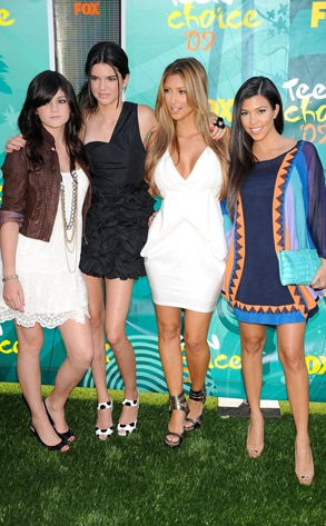Kylie Jenner, Kendall Jenner, Kim Kardashian, Kourtney Kardashian