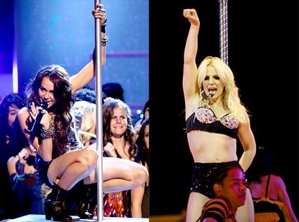Miley Cyrus, Britney Spears