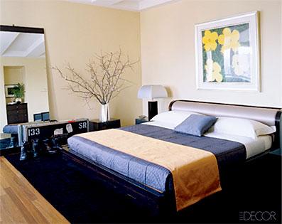 John Mayer, Bedroom, Elle Decor Magazine