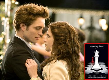 Robert Pattinson, Kristen Stewart, Breaking Dawn, Book Cover