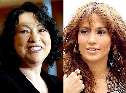 Sonia Sotomayor, Jennifer Lopez