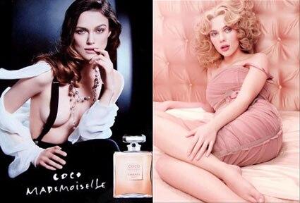 Keira Knightley, CoCo Channel Ad, Scarlett Johansson, Dolce and Gabbana Ad