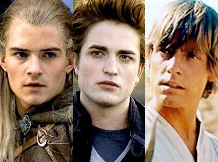 Orlando Bloom, Lord of the Rings, Robert Pattinson, Twilight, Mark Hamill, Star Wars