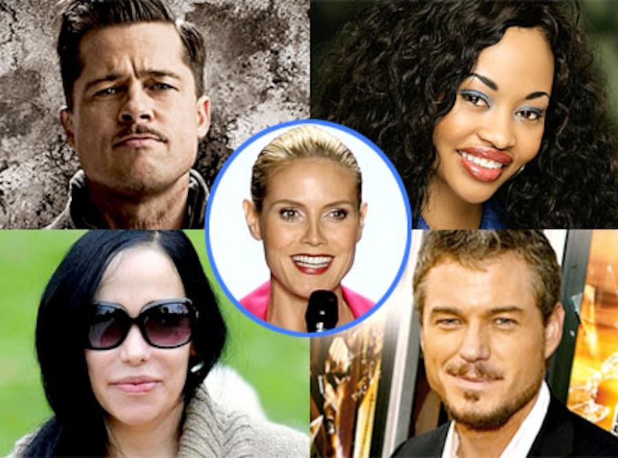 Brad Pitt, Chima Simone, Nadya Suleman, Eric Dane, Heidi Klum