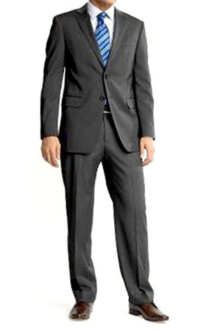 Banana Republic's Charcoal Wool Two-Button Suit