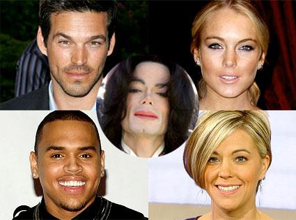 Eddie Cibrian, Lindsay Lohan, Chris Brown, Kate Gosselin, Michael Jackson