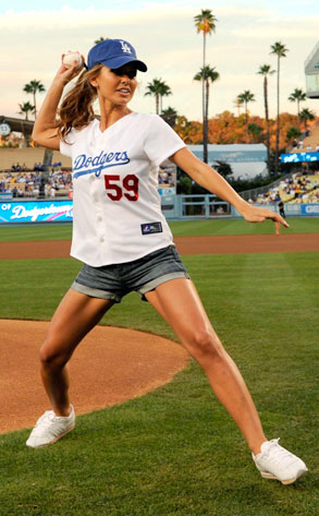 Audrina Patridge from Celeb Dodgers Fans | E! News Jessie Show 2017