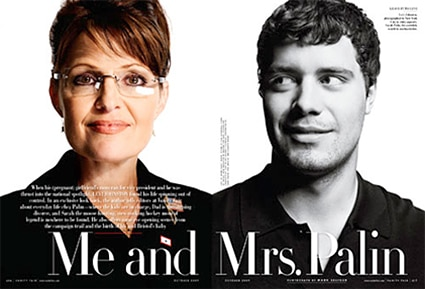 Sarah Palin, Levi Johnston, Vanity Fair Magazine, Inside
