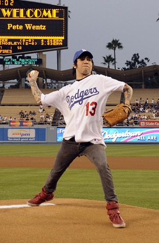 Pete Wentz, Dodgers Game