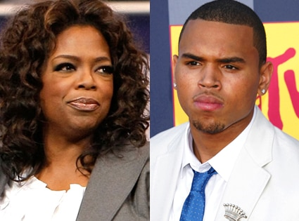 Oprah Winfrey, Chris Brown
