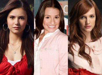 Nina Dobrev, Vampire Diaries, Lea Michele, Glee, Ashlee Simpson, Melrose Place