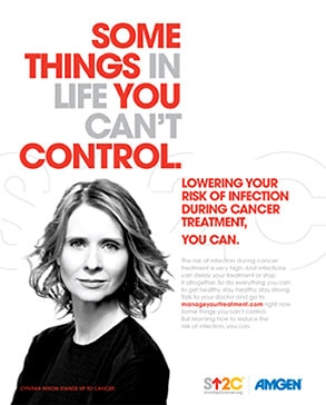 Cynthia Nixon, Stand Up To Cancer, PSA