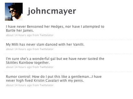 John Mayer, Twitter