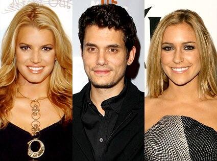 Jessica Simpson, John Mayer, Kristin Cavallari