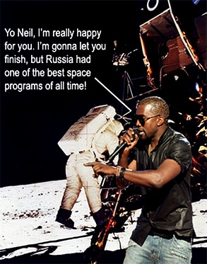 Kanye West, Neil Armstrong