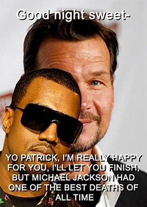 Kanye West, Patrick Swayze