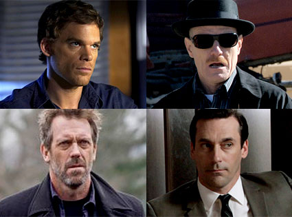 Michael C. Hall, Dexter, Bryan Cranston, Breaking Bad, Hugh Laurie, House, Jon Hamm, Mad Men
