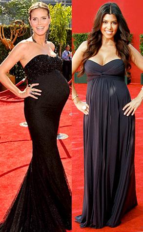 Heidi Klum, Kourtney Kardashian