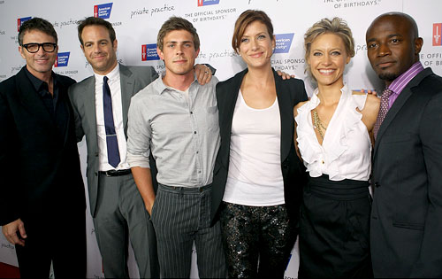 Tim Daly, Paul Adelstein, Chris Lowell, Kate Walsh, KaDee Strickland, Taye Diggs, Private Practice,