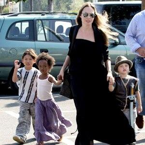 Angelina Jolie, Zahara, Pax, Shiloh