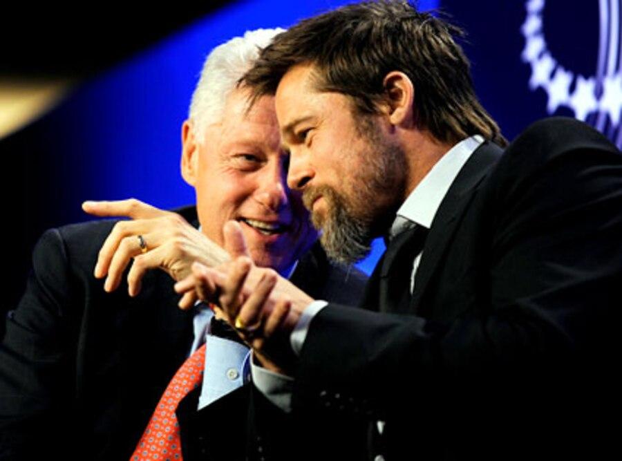 Brad Pitt, Bill Clinton