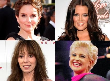 Tina Fey, Khloe Kardashian Odom, Mackenzie Phillips, Kelly Osbourne