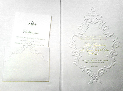 Khloe Kardashian, Lamar Odom, Wedding Invitation