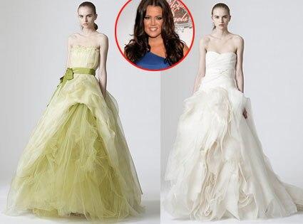Khloe Kardashian Odom, Vera Wang Gowns