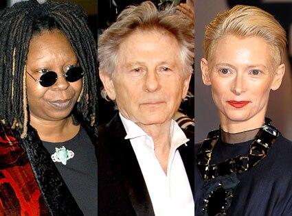 Whoopi Goldberg, Roman Polanski, Tilda Swinton