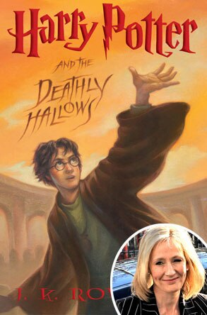 Harry Potter and the Deathly Hallows Cover, JK Rowling