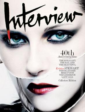 Kristen Stewart, Interview Magazine Cover