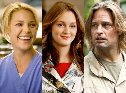 Katherine Heigl, Grey's Anatomy, Leighton Meester, Gossip Girl, Josh Holloway, Lost