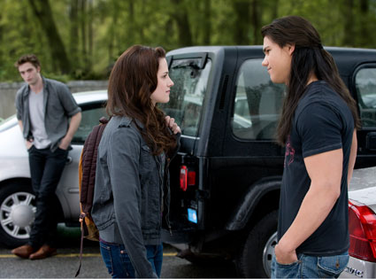 New Moon, Robert Pattinson, Kristen Stewart, Taylor Lautner