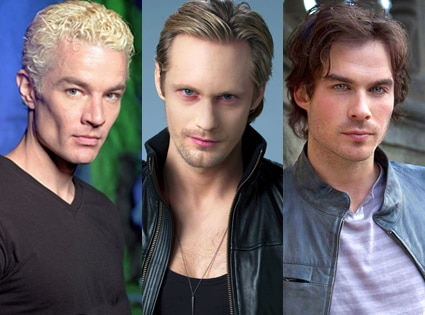 James Marsters, Buffy the Vampire Slayer, Alexander Skarsgard, True Blood, Ian Somerhalder, The Vampire Diaries