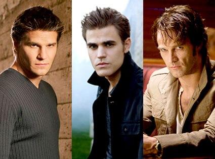 Angel, David Boreanaz, Vampire Diaires, Paul Wesley, True Blood, Stephen Moyer