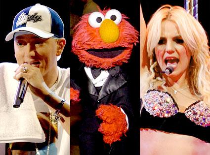 Eminem, Elmo, Britney Spears