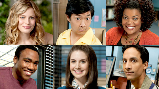 Gillian Jacobs, Ken Jeong, Yvette Nicole Brown, Donald Glover, Alison Brie, Danny Pudi, Community