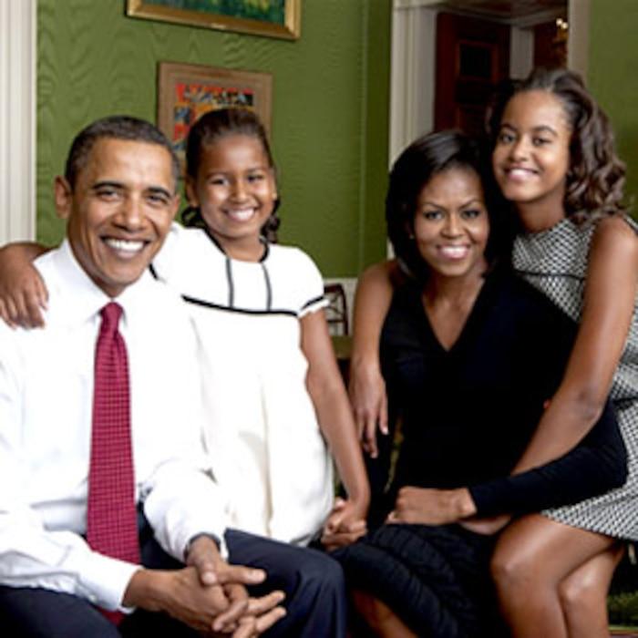Barack Obama, Sasha Obama, Malia Obama, Michelle Obama, Obama Family