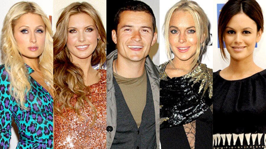 Paris Hilton, Audrina Patridge, Orlando Bloom, Lindsay Lohan, Rachel Bilson